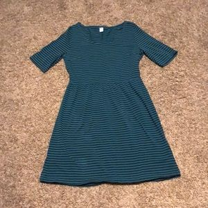 Old Navy sleeved stripped dress